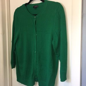 The Limited - XL Green Cardigan 3/4 Sleeves